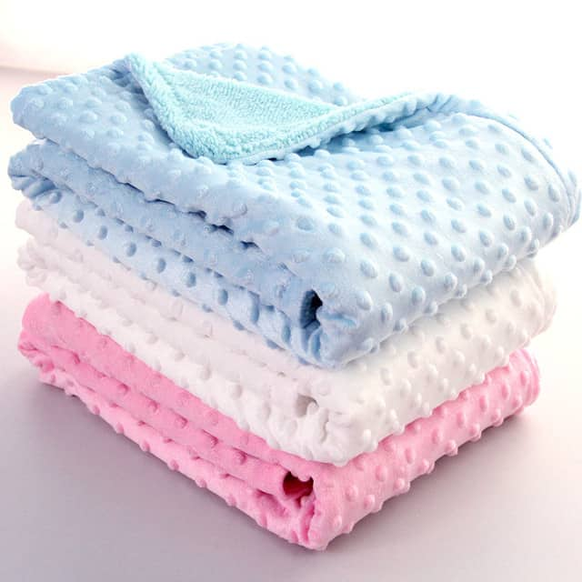 Thermal Soft Textured Dot Baby Blanket